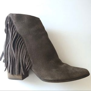 Steve Madden Country Suede Booties, Size 10